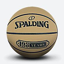 斯伯丁125周年纪念黄色MINI橡胶篮球51-282y