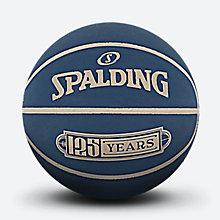斯伯丁125周年纪念蓝色橡胶MINI篮球51-283y