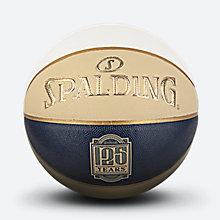 斯伯丁125周年黄蓝白拼色PU篮球76-566y
