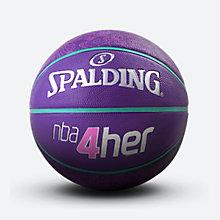 nba4her系列橡胶室外女子篮球6号球 83-051y