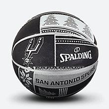 NBA马刺圣诞系列黄?#26029;?#33014;篮球83-639y