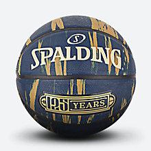 斯伯丁125周年纪念蓝色大理石印花橡胶篮球84-038y