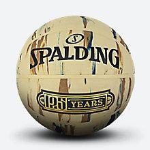 斯伯丁125周年纪念黄色大理石印花橡胶篮球84-039y