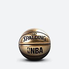 金色镜面玩赏PU篮球1号球