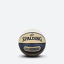 斯伯丁125周年纪念蓝黄白拼色1号PU篮球76-568y