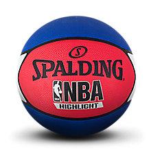 highlight红/白/蓝色星形橡胶篮球83-573y